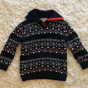 Boys blue patterned sweater